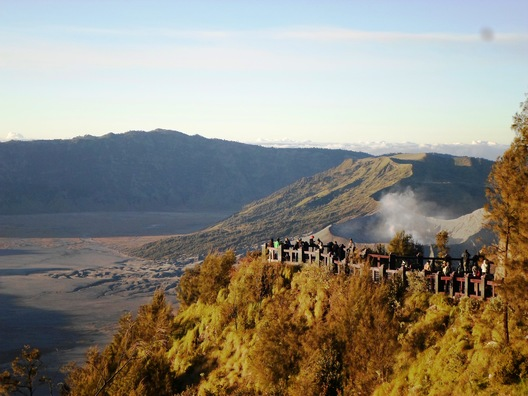 Cropped bromo view from penanjakan point