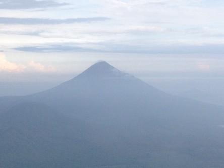 Thumb view from campsite on el hoyo volcano